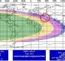 نقشه ماهواره ای استهلال پنجشنبه شب (24 خرداد 1397) طبق مبنای پروفسور برنارد یالوپ